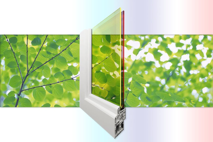 New double-pane quantum dot solar windows